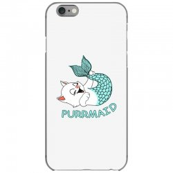 funny purr maid cat mermaid iPhone 6/6s Case | Artistshot