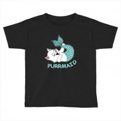 funny purr maid cat mermaid Toddler T-shirt | Artistshot