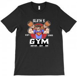 funny gym sloth the goonies fitness t shirt vectorized T-Shirt | Artistshot