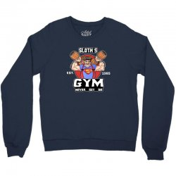 funny gym sloth the goonies fitness t shirt vectorized Crewneck Sweatshirt | Artistshot