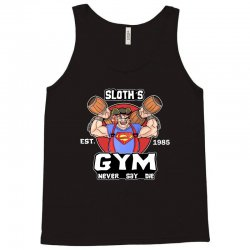 funny gym sloth the goonies fitness t shirt vectorized Tank Top | Artistshot