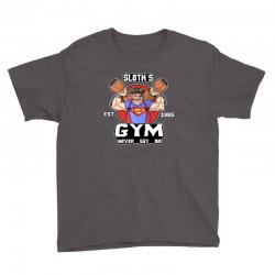 funny gym sloth the goonies fitness t shirt vectorized Youth Tee | Artistshot