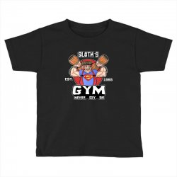 funny gym sloth the goonies fitness t shirt vectorized Toddler T-shirt | Artistshot