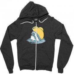 funny hat shark Zipper Hoodie   Artistshot