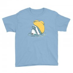 funny hat shark Youth Tee   Artistshot
