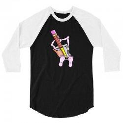 Funny cartoon pencil sharpener 3/4 Sleeve Shirt | Artistshot