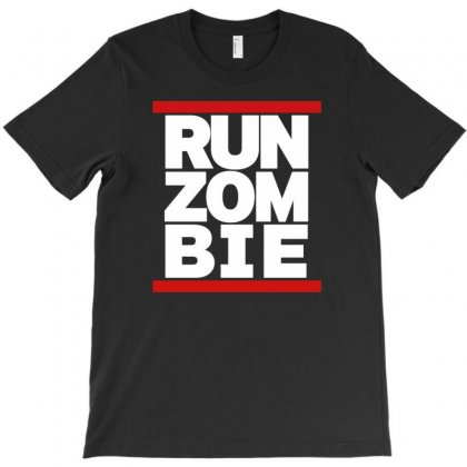 Run Zombie T-shirt Designed By Gematees