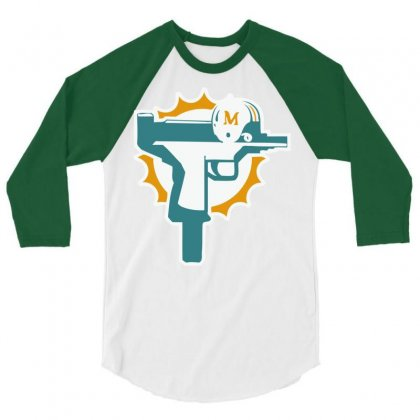 Dolphins Uzi Gun T Shirt Football Jersey Funny 3/4 Sleeve Shirt