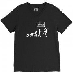 funny karate evolution V-Neck Tee | Artistshot