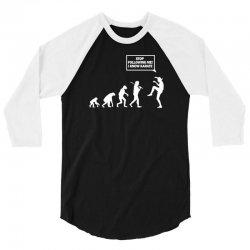 funny karate evolution 3/4 Sleeve Shirt | Artistshot