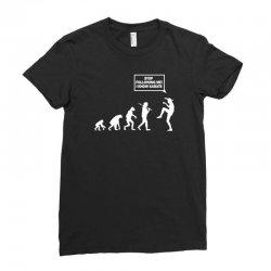 funny karate evolution Ladies Fitted T-Shirt   Artistshot