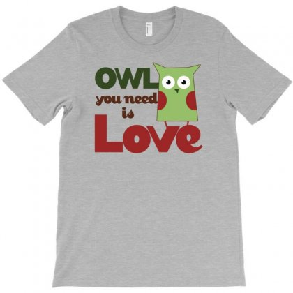 Owl Love T-shirt Designed By Gematees