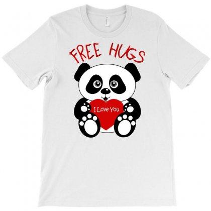 Free Hugs Panda T-shirt Designed By Gematees