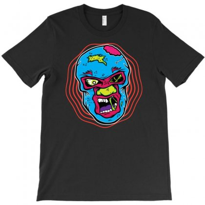 Zombie Luchador T-shirt Designed By Gematees