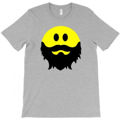 Bearded Smiley Face T-shirt Designed By Tonyhaddearts