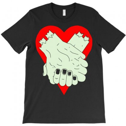 Zombie Hand Couple T-shirt Designed By Mdk Art