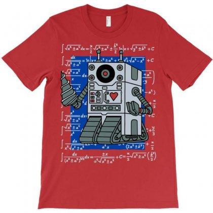 Mathematics Robot T-shirt Designed By Mdk Art