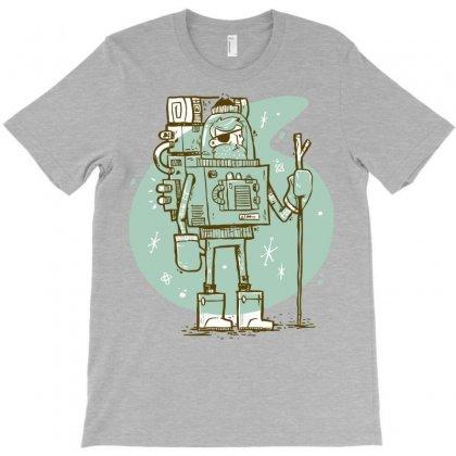 Robot Christmas T-shirt Designed By Mdk Art