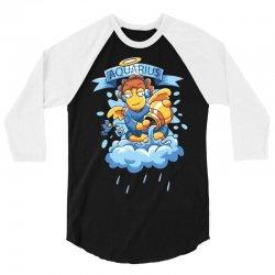 FUNNY ZODIAC SIGNS AQUARIUS 3/4 Sleeve Shirt | Artistshot
