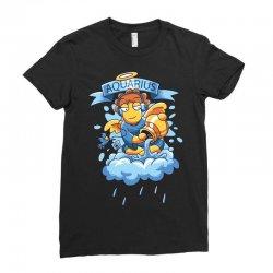 FUNNY ZODIAC SIGNS AQUARIUS Ladies Fitted T-Shirt | Artistshot