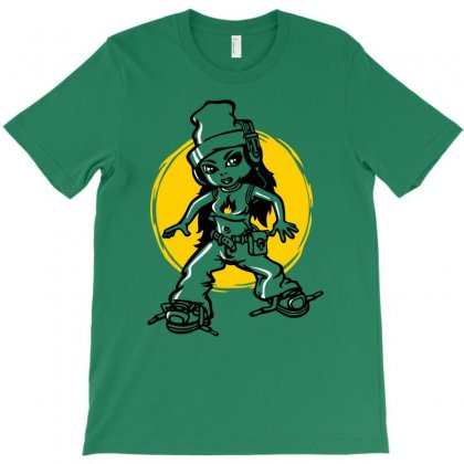 Hip Hop Girl T-shirt Designed By Gematees