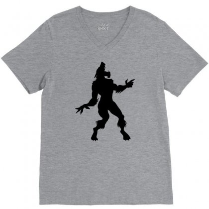 Werewolf Dancing V-neck Tee Designed By Gematees
