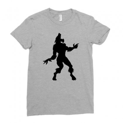 Werewolf Dancing Ladies Fitted T-shirt Designed By Gematees