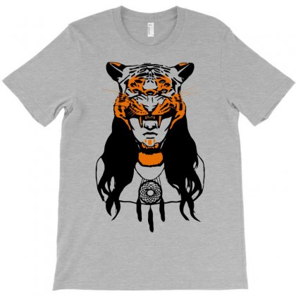 Tiger Woman T-shirt Designed By Gematees