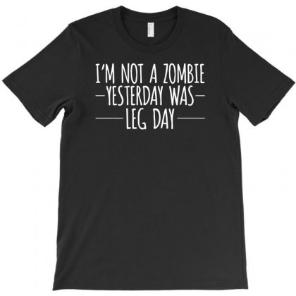 I`m Not A Zombie T-shirt Designed By Tonyhaddearts