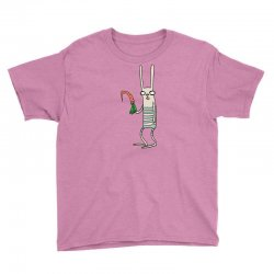 funny rabbit bunny holding a carrot Youth Tee | Artistshot