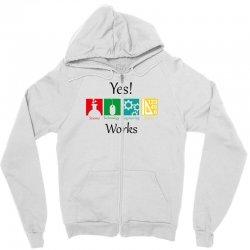 yes work science Zipper Hoodie | Artistshot