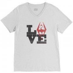 Love Skyrim V-Neck Tee | Artistshot