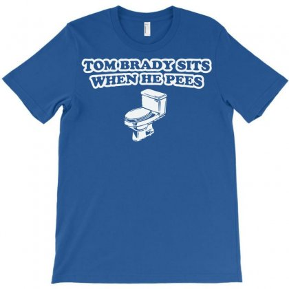 Indianapolis Colts T Shirt Tom Brady Sits When He Pees Funny Jersey Andrew Luck T-shirt Designed By Mdk Art