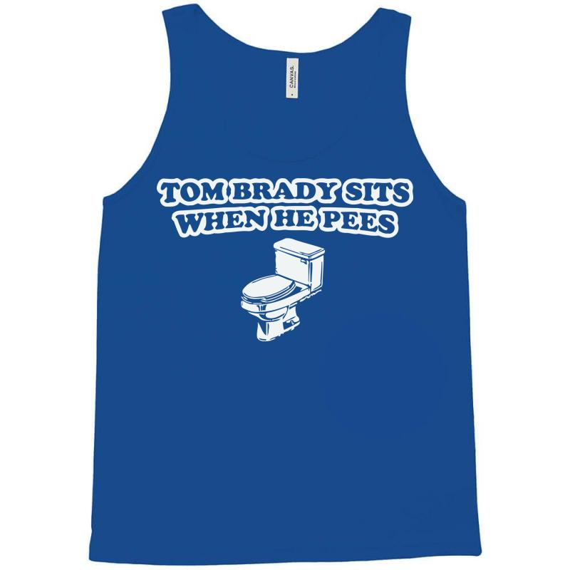 61affc64 indianapolis colts t shirt tom brady sits when he pees funny jersey andrew  luck Tank Top