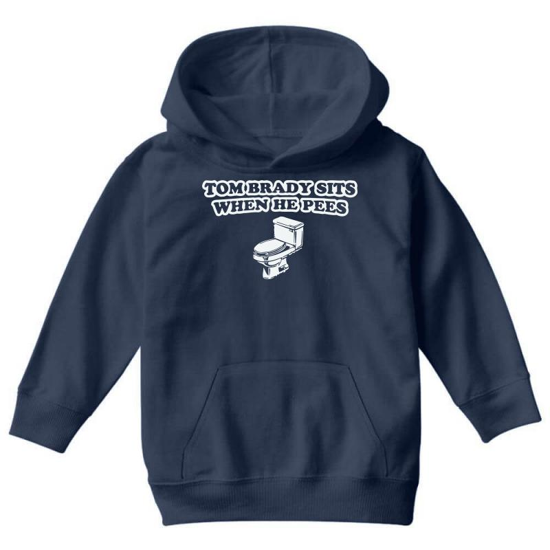 e0fbcfd8 indianapolis colts t shirt tom brady sits when he pees funny jersey andrew  luck Youth Hoodie