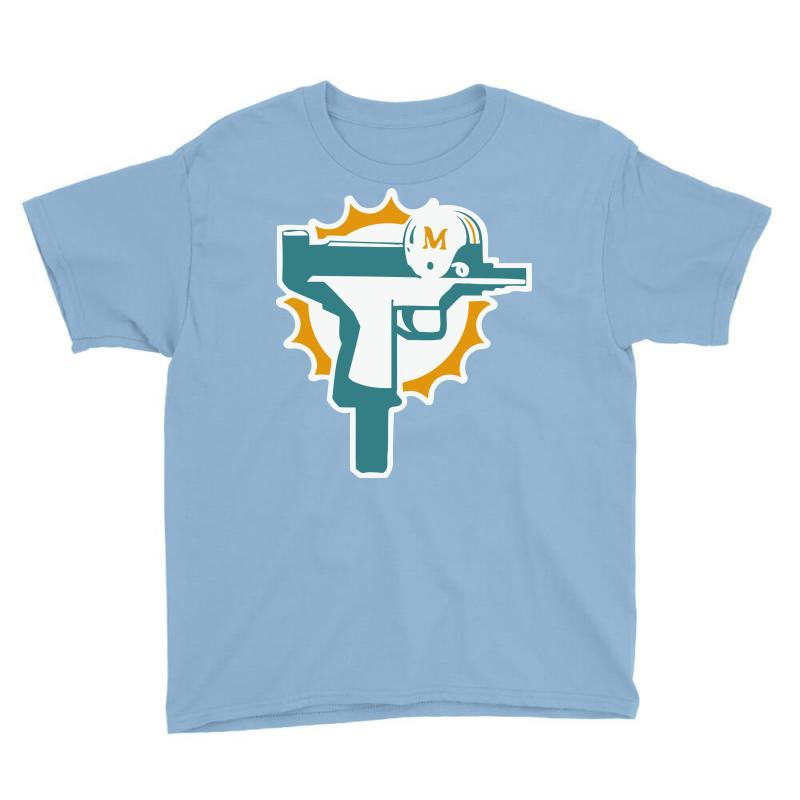 best website 18ace c93e4 Miami Dolphins Uzi Gun T Shirt Football Jersey Funny Ryan Tannehill New  Rare! Youth Tee. By Artistshot