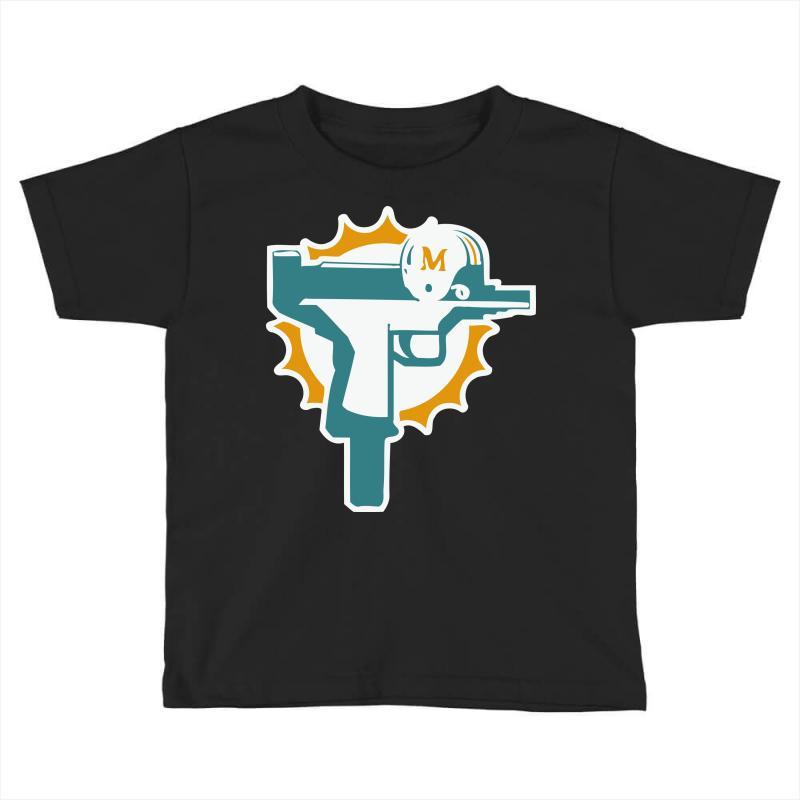 new style f73e5 8ebb5 Miami Dolphins Uzi Gun T Shirt Football Jersey Funny Ryan Tannehill New  Rare! Toddler T-shirt. By Artistshot