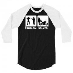 funny biker 3/4 Sleeve Shirt | Artistshot