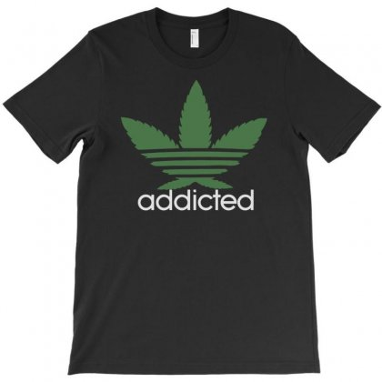 Mens Cannabis Addicted Parody T-shirt Designed By Tonyhaddearts