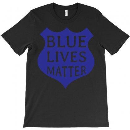 Blue Lives Matter T-shirt Designed By Designbysebastian