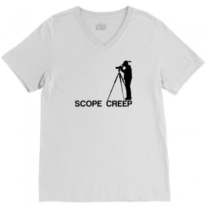 Scope Creep V-neck Tee Designed By Designbysebastian