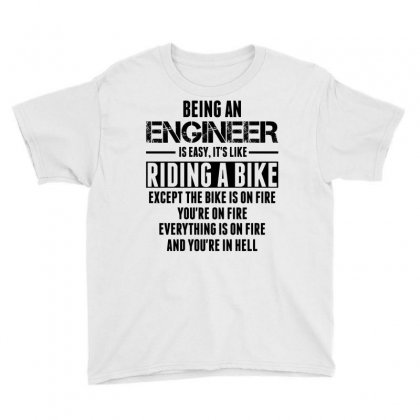 Being An Engineer... Youth Tee Designed By Sabriacar