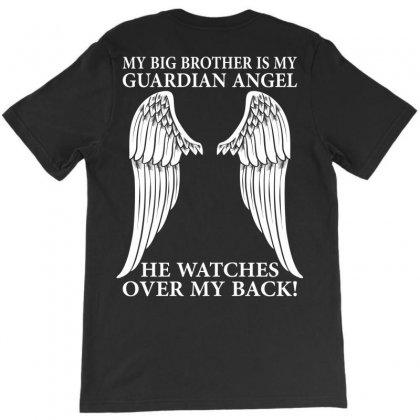 My Big Brother Is My Guardian Angel T-shirt Designed By Designbysebastian