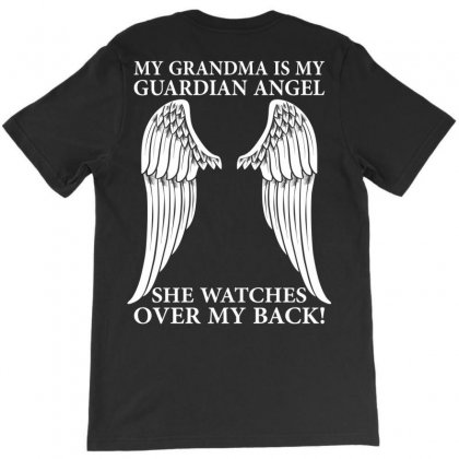 My Grandma Is My Guardian Angel T-shirt Designed By Designbysebastian