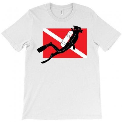 Scuba Diver T-shirt Designed By Gematees