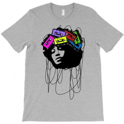Cassette Music Head Colored T-shirt Designed By Gematees