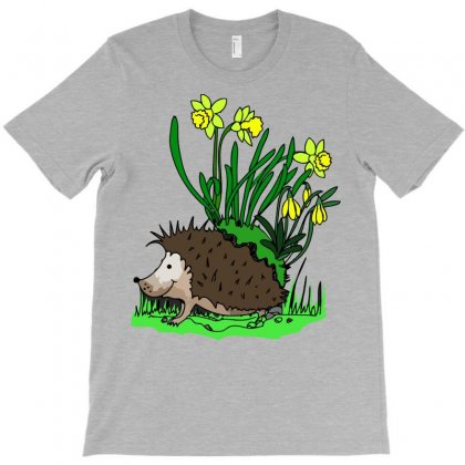 Hedgehog With Flowers T-shirt Designed By Gematees