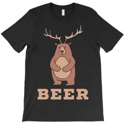 Funny Beer Deer T-shirt Designed By Gematees