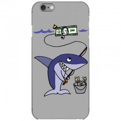 funny shark fishing for humans iPhone 6/6s Case | Artistshot