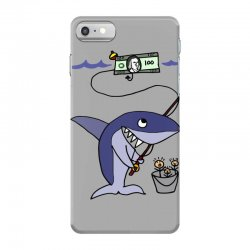 funny shark fishing for humans iPhone 7 Case | Artistshot